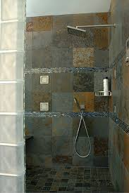 advantages and disadvantages of a curbless walk in shower rain shower heads work well for curbless walk in showers