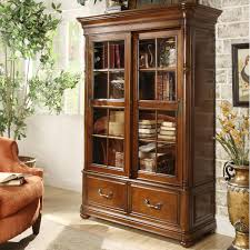 glass door hutch double sliding glass door bookcase by riverside furniture wolf