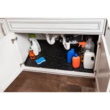 What Is The Best Shelf Liner For Kitchen Cabinets by Xtreme Mats Beige Kitchen Depth Under Sink Cabinet Mat Drip Tray