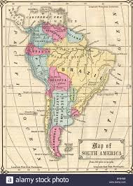 Map Of The South America by Original Old Map Of South America From 1865 Geography Textbook