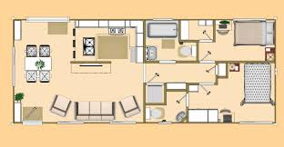 Container Houses Floor Plans Floor Plan Of Our 640 Sq Ft Daybreak Floor Plan Using 2 X 40