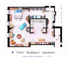 New York Apartments Floor Plans by From Friends To Frasier 13 Famous Tv Shows Rendered In Plan