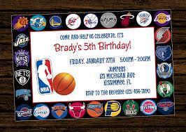 Sport Invitation Card Custom Nba Invitations Birthday Party By Woodsdesignstudio On Etsy
