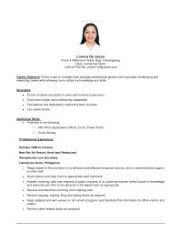 Cosmetologist Resume Objective Example Of Objective On Resume Resume For Your Job Application