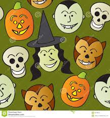 halloween characters clipart seamless cartoon halloween characters royalty free stock images