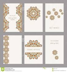 Editable Wedding Invitation Cards Free Set Of Vintage Cards Templates Editable Stock Vector Image
