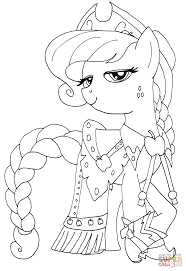 My Little Pony Colouring Pages Princess Applejack From My Little Pony Coloring Page My Little