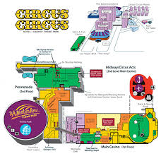Vegas Monorail Map Circus Circus Map Las Vegas Virginia Map
