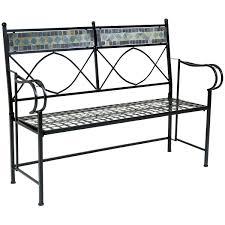 wrought iron bench seat ammatouch image on astounding metal garden
