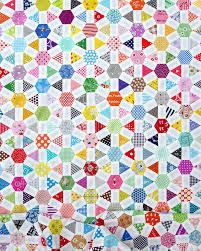 Not Your Grandmother amp      s Flower Garden  Diamond Hexi English Paper Pieced Geta s Quilting Studio