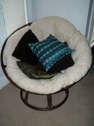 Papasan Chair In Living Room Furniture Rattan Folding Papasan Chair With Charming Cushion Seat