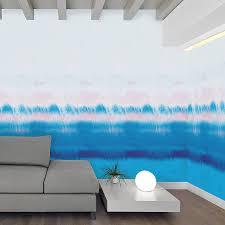 Wohnzimmer Rosa Streichen Rainbow Watercolour Self Adhesive Wallpaper By Oakdene Designs
