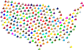 Unite States Map by Clipart Prismatic Thumbs Up United States Map