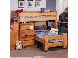 trendwood bunkhouse twin twin apache loft bed with twin caster bed