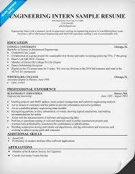Example Resume  Intern Sample Resume  technical skills and     Resume Examples