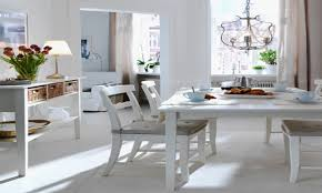ikea dining tables sleek wooden dining chairs white finished