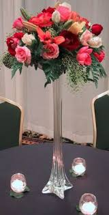 Black Centerpiece Vases by Tall Eiffel Glass Vase White Clear Black 12 16 20 24 28 32