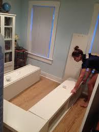 Platform Storage Bed Plans With Drawers by 98 Best Bedroom Diy Storage Bed U0026 Headboard Images On Pinterest