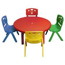 Childrens Garden Chair Kids Round Table Mammut Children U0027s Table In Outdoor Light Green