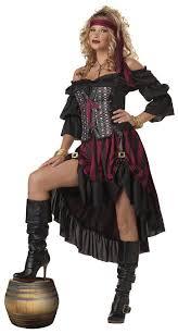 Sexiest Pirate Halloween Costumes Amazon Womens Pirate Wench Halloween Costume