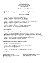Resume Sample For Long Term Employment how to make a cna resume no experience resume for your job