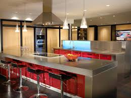 Stainless Steel Kitchen Pendant Light by Kitchen Stainless Steel Countertop Feature Red Laminated Vinyl