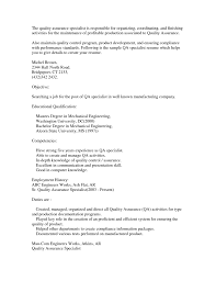 Best Resume Format For Quality Assurance by Quality Assurance Specialist Resume Sample Free Resume Example