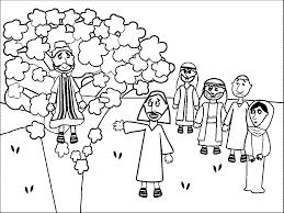 zacchaeus jesus coloring pages wecoloringpage