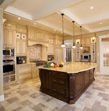 decoration ideas elegant brown wooden kitchen island and brown