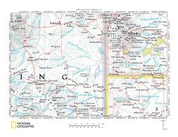 Wyoming Map Usa by Cheyenne River Niobrara River Drainage Divide Area Landform