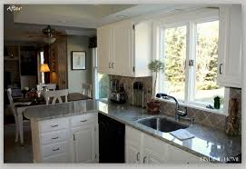 Oak Kitchen Cabinets Refinishing Oak Painting Kitchen Cabinets White Before And After U2014 Decor