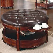 coffee table appoline contemporary style black leatherette pull