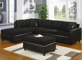Black Leather Couch Living Room Ideas Living Room Sectional Couches With Modern Black Leather Sofa And