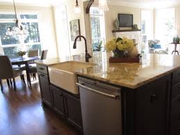 Kitchen Island Outlet Awesome Hanging Lamp Above Kitchen Island With Sink At Traditional
