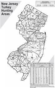 Map Nj Njdep Division Of Fish U0026 Wildlife Wild Turkey In New Jersey