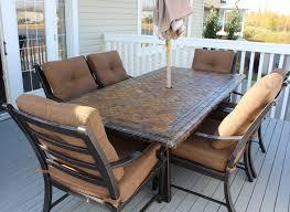 Martha Stewart 7 Piece Patio Dining Set - exterior design comfortable overstock patio furniture for elegant