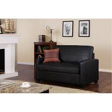 Ava Velvet Tufted Sleeper Sofa by Best Mainstays Sofa Sleeper Black Faux Leather 63 In Pulaski