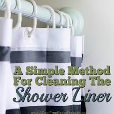 a simple method for cleaning the shower liner a mess free life