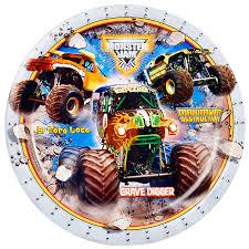 monster truck shows in michigan monster jam 3d dinner plates birthdayexpress com