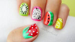 5 summer fruit nail art designs youtube