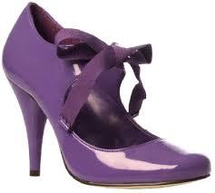 Purple Heeled Court Shoe