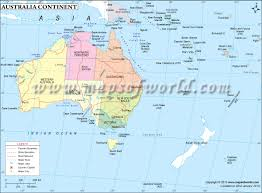 Pictures Of World Map by Australia Continent Map