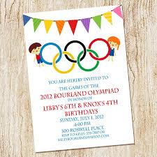 Printable Invitation Card Stock Olympic Party Invitation Olympics Birthday Invitation Digial