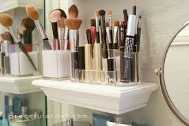 39 makeup storage ideas that will have both the bathroom and small shelves in bathroom for makeup brushes storage