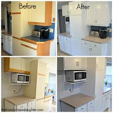 How To Paint Kitchen Cabinets Like A Pro Tips For Updating 80 U0027s Kitchen Cabinets The Handyman U0027s Daughter