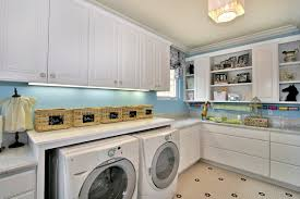 nice interior for laundry room decorating ideas with long white