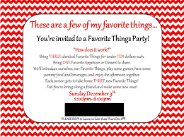 land of collins my favorite things party invitation favorite