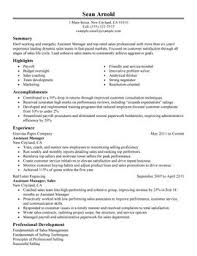 Impactful Professional Sales Resume Resume Examples  amp  Resources     My Perfect Resume Assistant Manager