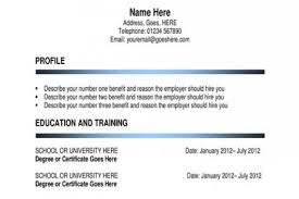 How To Make A Simple Job Resume by Resume Resume Examples How To Write A Simple Resume Resume Job