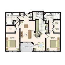 2 Bedroom 1 Bath Floor Plans Floor Plans The Park At River Oaks Luxury Apartments Living